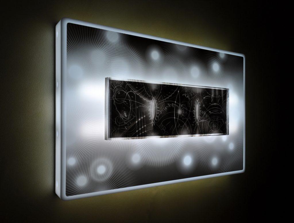 Light on plexiglas