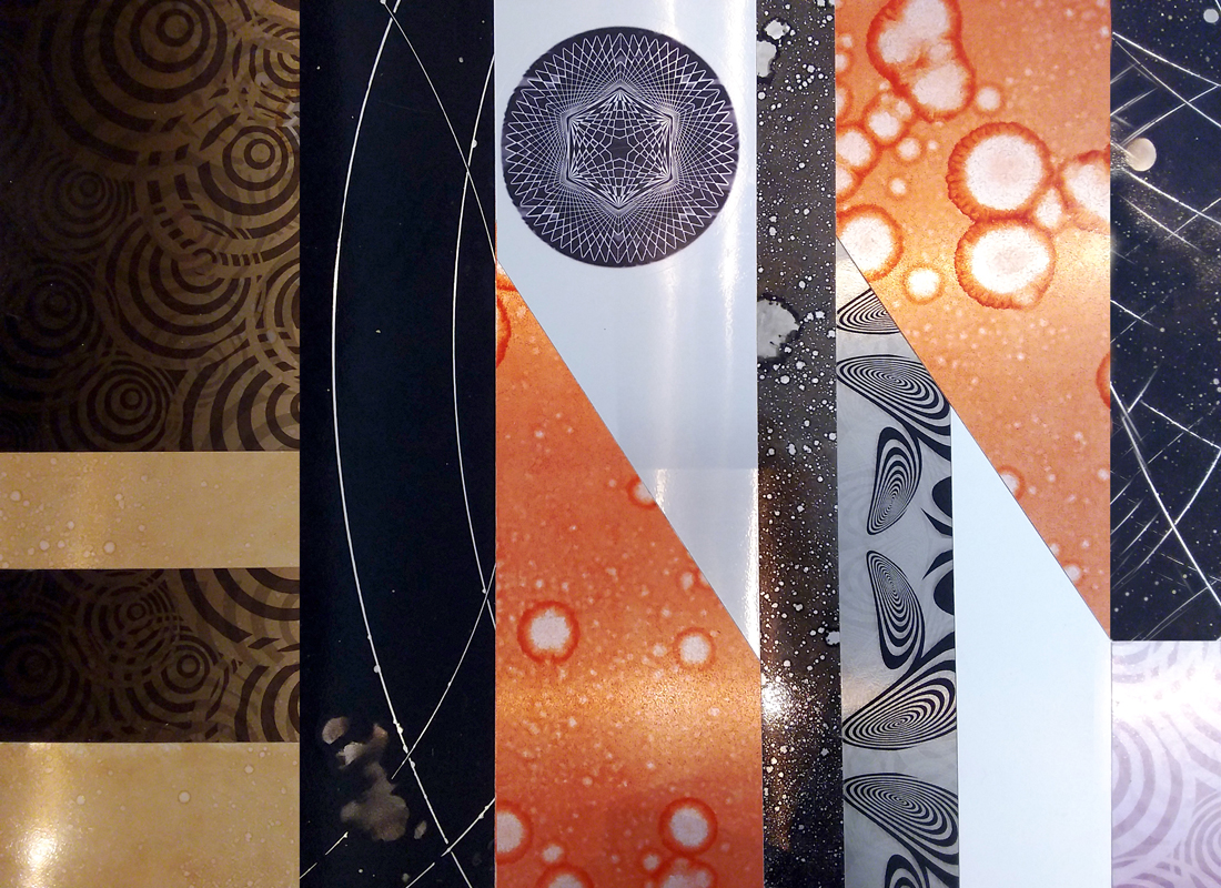 Pannelli in alluminio decorato a mano