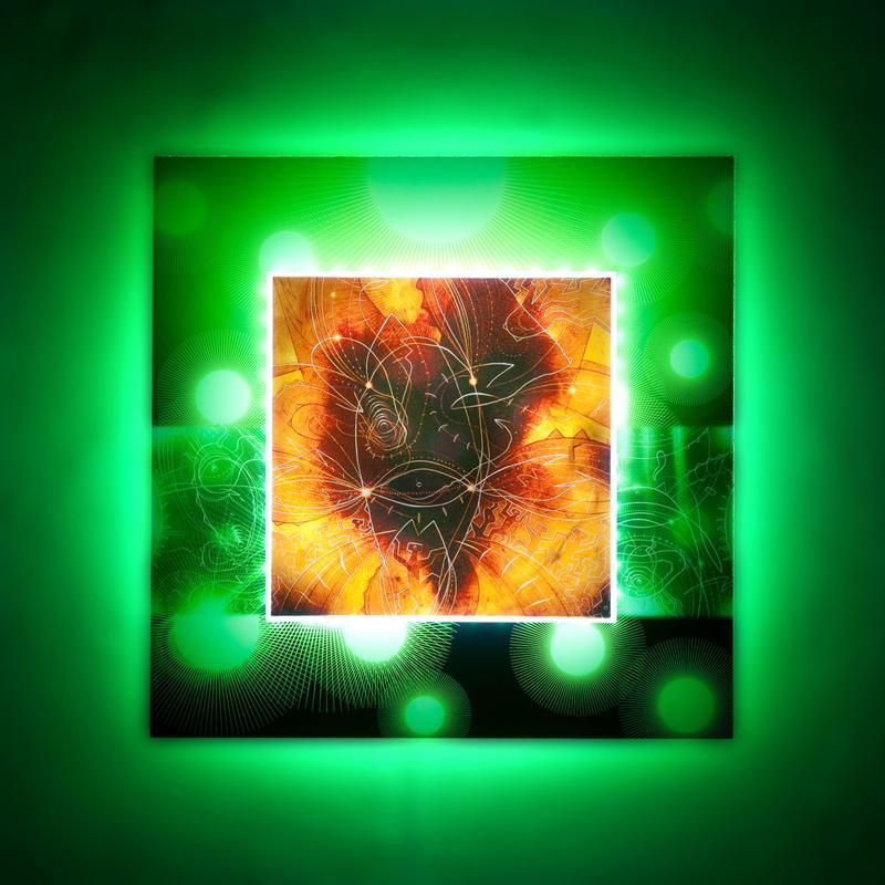 """ Origine"" Light RGB on plexiglas cm70 x cm70"